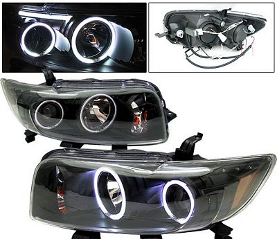 Scion xB 2008-2010 Anzo Black Dual CCFL Halo Projector Headlights