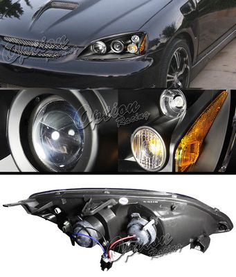 Honda Civic 2001-2003 TYC JDM Black Projector Headlights