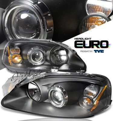 Honda Civic 1999-2000 TYC Black Projector Headlights