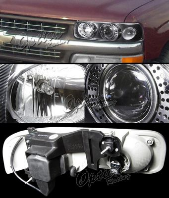 Chevy Silverado 1999-2002 TYC Black Projector Headlights