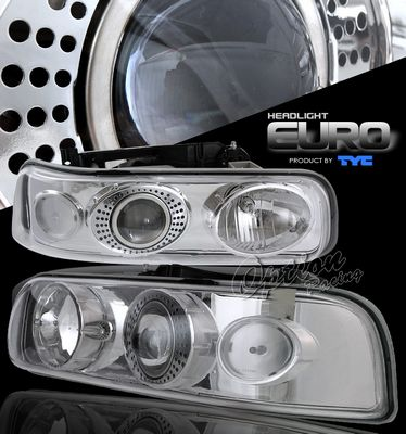 Chevy Tahoe 2000-2006 TYC Clear Projector Headlights
