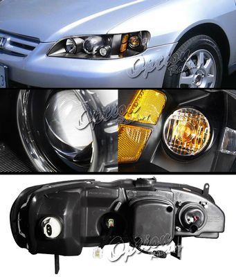 Honad Accord 1998-2002 TYC JDM Black Projector Headlights