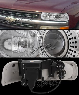 Chevy Silverado 1999-2002 TYC Clear Projector Headlights