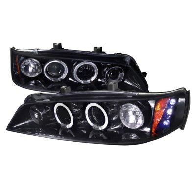 Honda Accord 1994-1997 Smoked Halo Projector Headlights with LED