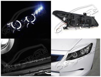 Honda Accord Coupe 2008 2012 Smoked Halo Projector
