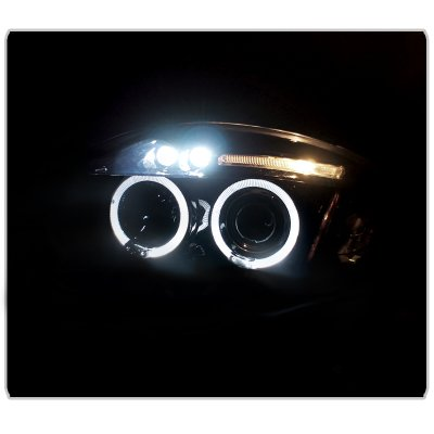 Mitsubishi Eclipse 2006-2008 Black Dual Halo Projector Headlights with LED