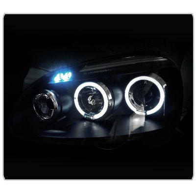 VW Golf 2006-2008 Black Halo Projector Headlights with LED