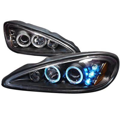 Pontiac Grand Am 1999 2005 Black Dual Halo Projector Headlights With Led A122ixbz101 Topgearautosport