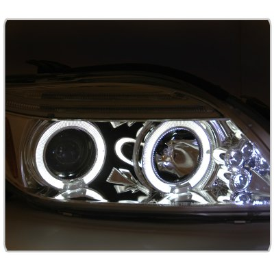 Scion tC 2005-2007 Clear Dual Halo Projector Headlights with LED