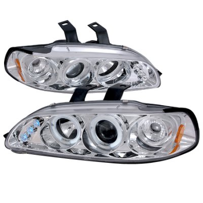 Honda Civic 1992-1995 Clear Dual Halo Projector Headlights with LED