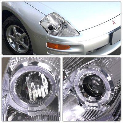 Mitsubishi Eclipse 2000-2005 Chrome Projector Headlights Halo