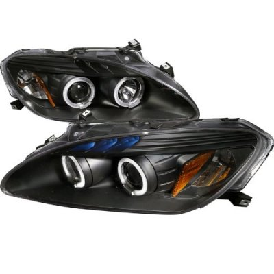 Honda S2000 2004-2009 Black Halo Projector Headlights with LED