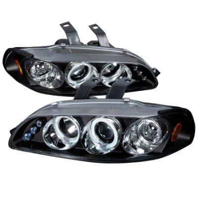 Honda Civic 1992-1995 JDM Black Dual Halo Projector Headlights with LED