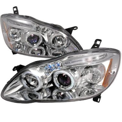 2007 Toyota Corolla Clear Halo Projector Headlights with LED