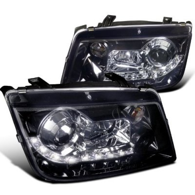 VW Jetta 1999-2004 Smoked Projector Headlights with LED