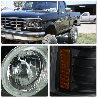 Ford F350 1992 1996 Halo Projector Headlights