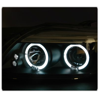 Scion tC 2005-2007 Black Dual Halo Projector Headlights with LED