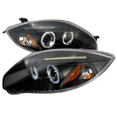 Mitsubishi Eclipse 2006-2008 Black Dual Halo Projector Headlights with LED