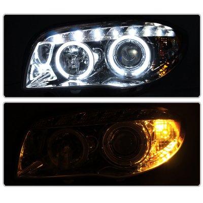 BMW 128i 2008-2013 E82 E88 Clear Halo Projector Headlights with LED