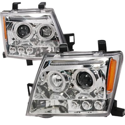 2005 Nissan Xterra Clear Dual Halo Projector Headlights with LED