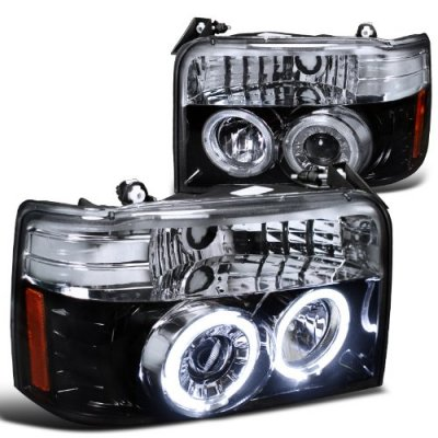 1992 Ford F250 Smoked Halo Projector Headlights