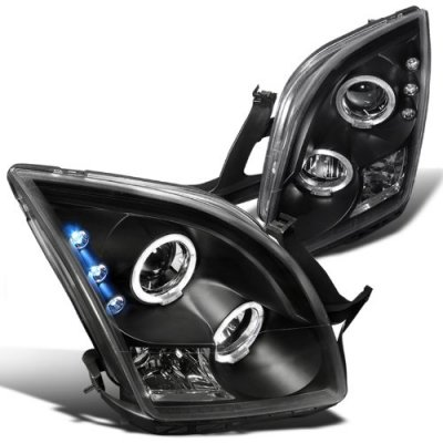 Ford Fusion 2006 2009 Black Dual Halo Projector Headlights