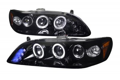 Honda Accord 1998-2002 Smoked Halo Projector Headlights with LED