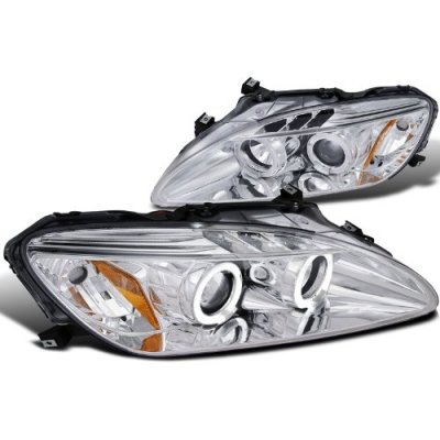 Honda S2000 2004-2009 Clear Halo Projector Headlights with LED