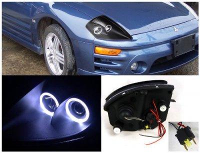 Mitsubishi Eclipse 2000-2005 Black Projector Headlights Halo
