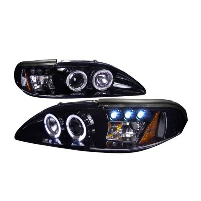 1994 Ford Mustang Smoked Projector Headlights with LED