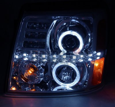 2002 Cadillac Escalade Clear Halo Projector Headlights with LED