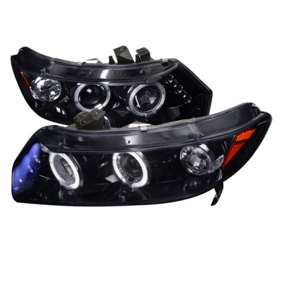 Honda Civic Coupe 2006-2011 Smoked Halo Projector Headlights with LED