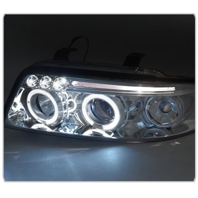 Audi A4 2000-2001 Clear Halo Projector Headlights with LED