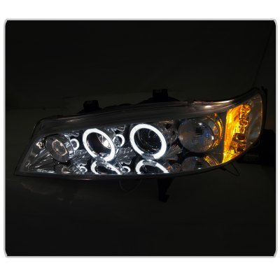 Honda Accord 1994-1997 Clear Halo Projector Headlights with LED