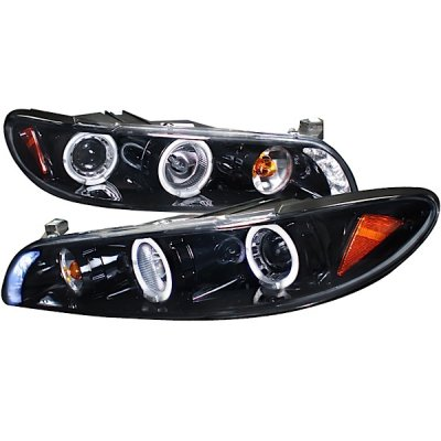 Pontiac Grand Prix 1997-2003 Smoked Halo Projector Headlights with LED