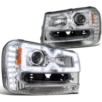 Chevy Trailblazer 2002 2009 Chrome Projector Headlights