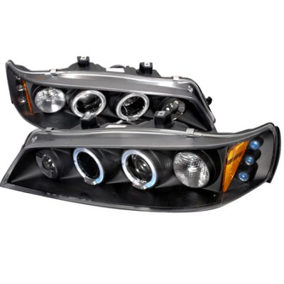 Honda Accord 1994-1997 Black Halo Projector Headlights with LED