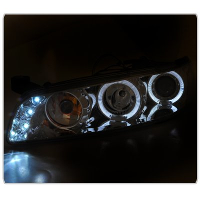 Pontiac Grand Prix 1997-2003 Clear Halo Projector Headlights with LED