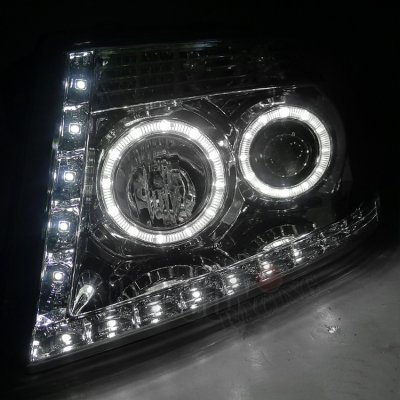 Ford F150 2004 2008 Clear Halo Projector Headlights With