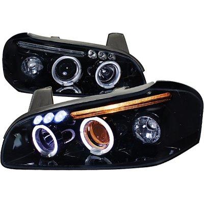 Nissan Maxima 2000 2001 Smoked Halo Projector Headlights With LED