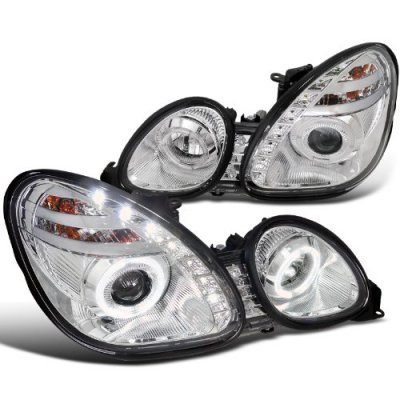 Lexus GS300 1998-2005 Chrome Projector Headlights Halo LED DRL