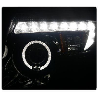 Ford Edge 2007 2010 Smoked Projector Headlights Halo Led Drl A122xcxm101 Topgearautosport