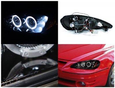 Pontiac Grand Am 1999 2005 Smoked Halo Projector Headlights Led