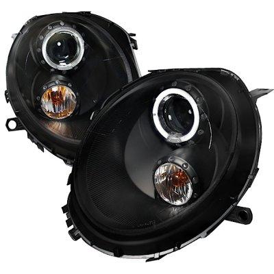 Mini Cooper 2007-2011 Black Halo Projector Headlights