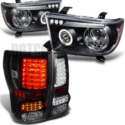 toyota tundra 2007 2013 black projector headlights and led tail Jeep LED Tail Lights toyota tundra 2007 2013 black projector headlights and led tail lights
