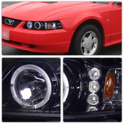 Ford Mustang 1999-2004 Smoked Projector Headlights with LED