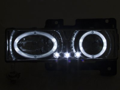 1999 Chevy Tahoe Clear Halo Headlights and LED Bumper Lights