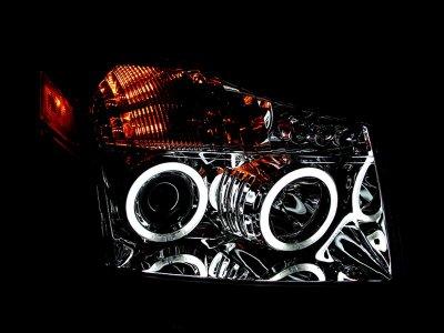 Nissan Armada 2004-2007 Clear Projector Headlights CCFL Halo LED