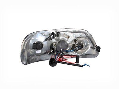 Ford F150 1997-2003 Clear Projector Headlights with Halo and LED