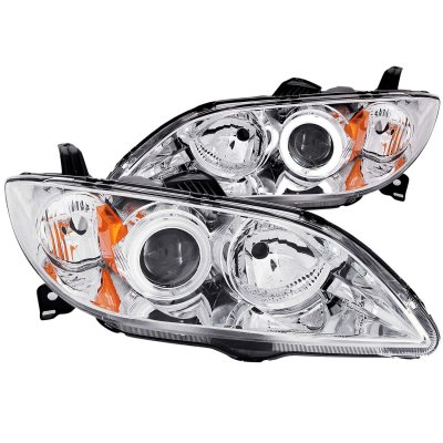 Mazda 3 Sedan 2004-2008 Clear Projector Headlights CCFL Halo